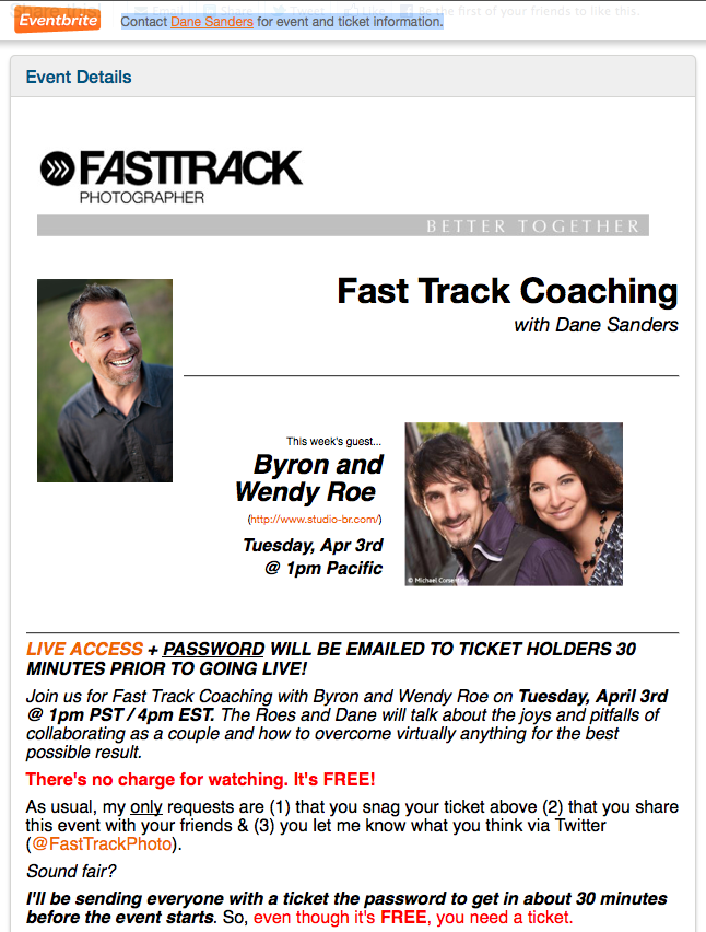 Fast Track Coaching with Dane Sanders Interview with Byron and Wendy Roe