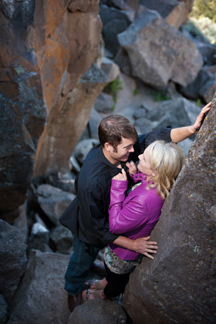 A Smith Rock State Park Engagement Photo Session with {Jennifer + Jason}